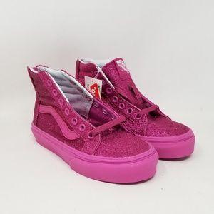 Vans Sk8-Hi Zip Shimmer Sneakers Kid's Size 11